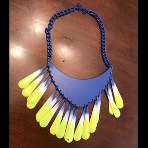 Zara neon ombré necklace
